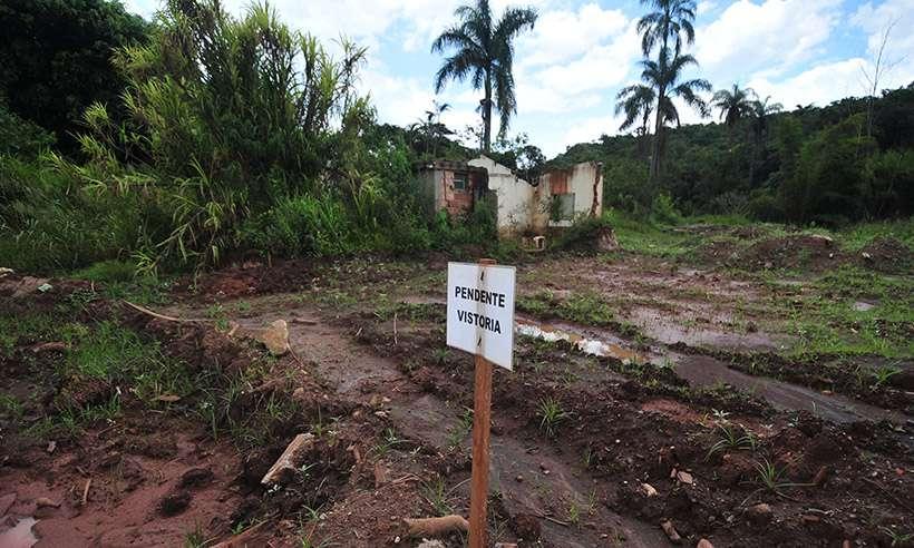 (Área atingida pelo rompimento da barragem em Brumadinho ainda com muita lama dois anos depois. Foto: Alexandre Guzanshe/EM/D.A Press )