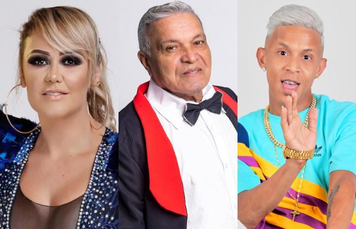 Michelle Melo, Conde Só Brega e MC Tróia são alguns nomes representativos do brega no Recife (Foto: Divulgação, Verner Brenan e Cenário Filmes)