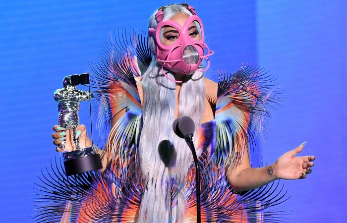 Lady Gaga na edição de 2020. (Foto: AFP)