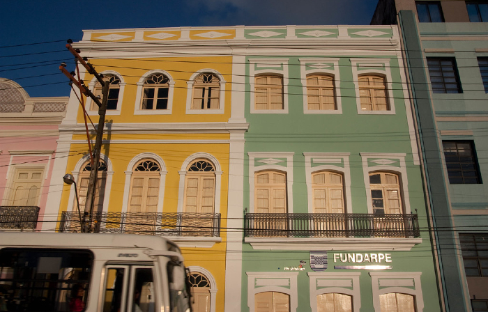 Sede da Fundarpe e Teatro Arraial, na Rua da Aurora (Foto: Isabella Valle/Fundarpe)