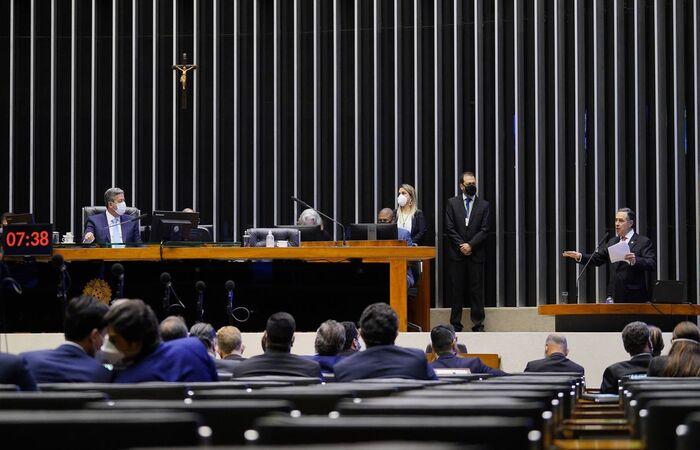 A declaração é do presidente do TSE durante reunião na Câmara  (Foto: Pablo Valadares/Câmara dos Deputados)