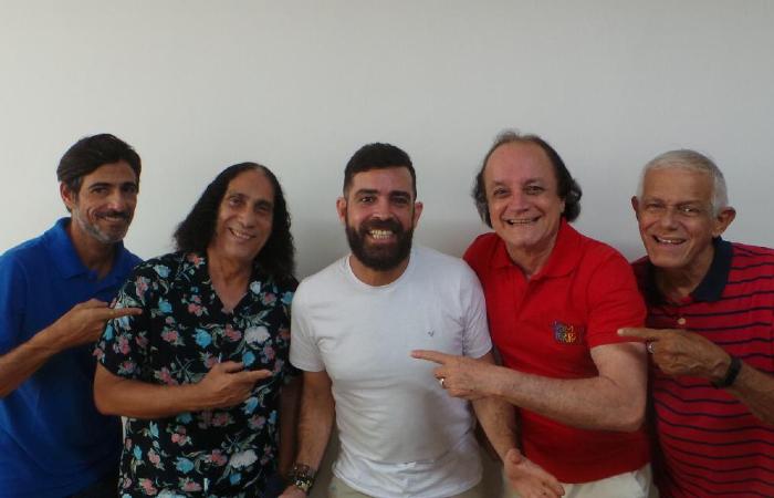 Alexandre Doca, Zé Carlos, Cassius Cavalcanti, Rominho e Neném (Foto: Divulgação)