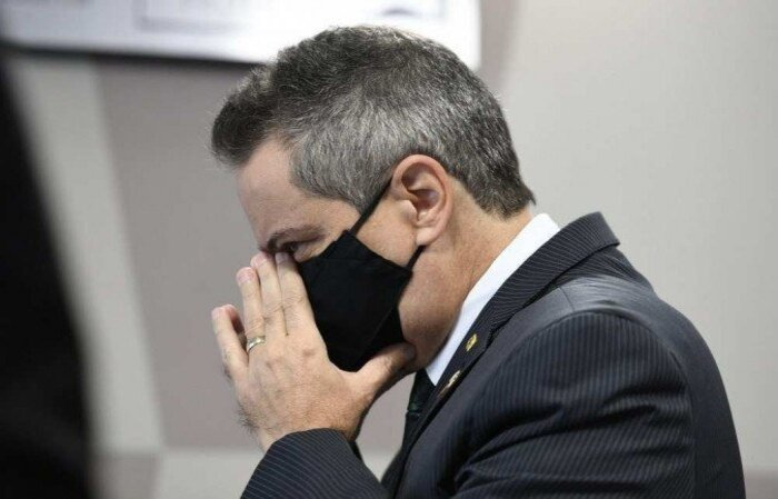 Comissão está apurando a existência do referido gabinete, que seria um assessoramento paralelo que alimentaria o presidente Bolsonaro com informações negacionistas no combate à pandemia do novo coronavírus  (crédito: Edilson Rodrigues/Agência Senado )