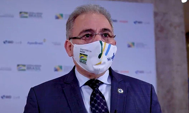 (Marcelo Queiroga presenciou hoje em SP entrega de leitos de UTI. Foto: Divulgação/Ministério da Saúde )