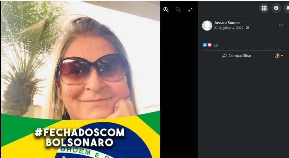 (Jussara é bolsonarista e mostrou apoio ao presidente Bolsonaro por diversas vezes nas redes sociais. Foto: Facebook/Reprodução)