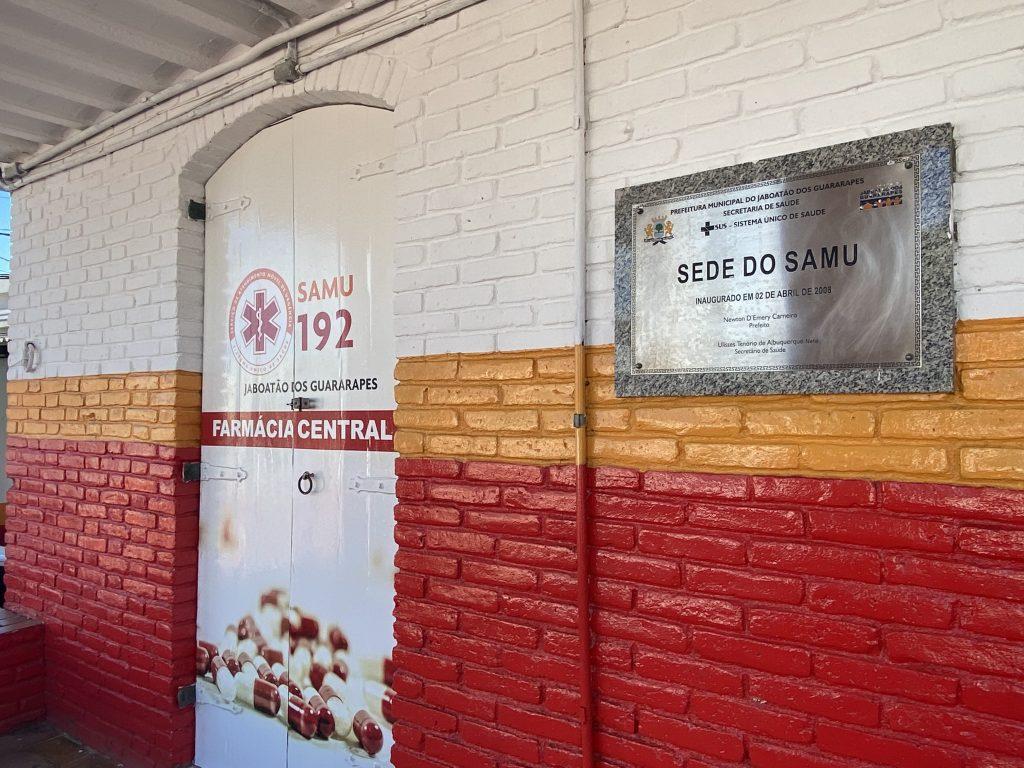 Fachada do Serviço de Atendimento Móvel de Urgência (SAMU) de Jaboatão (Cremepe/Divulgação)
