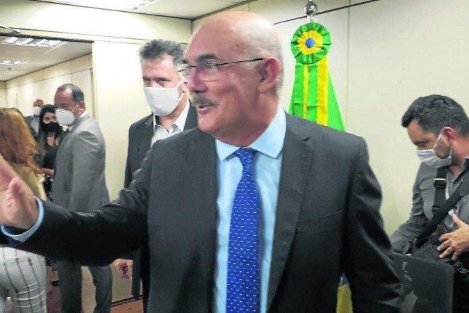 """Milton Ribeiro, o constrangido: """"Passei vergonha na reunião do G20 porque, praticamente, o Brasil era o único país com 450 dias de escolas fechadas"""" (Foto: Carlos Vieira/CB)"""
