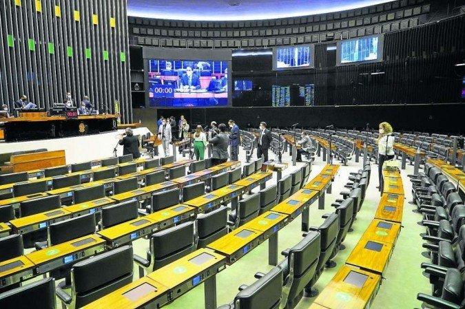 Plenário da Câmara: parlamentares favoráveis à mudança do sistema de governo buscam um modelo brasileiro, que seria distinto de Portugal (Foto: Pablo Valadares  / Câmara dos Deputados)