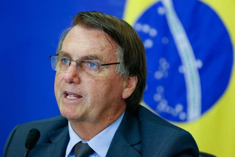 (Bolsonaro afirma que o Brasil corre o risco de não ter eleições em 2022, caso o voto não seja imprenso. Foto: Alan Santos/PR)