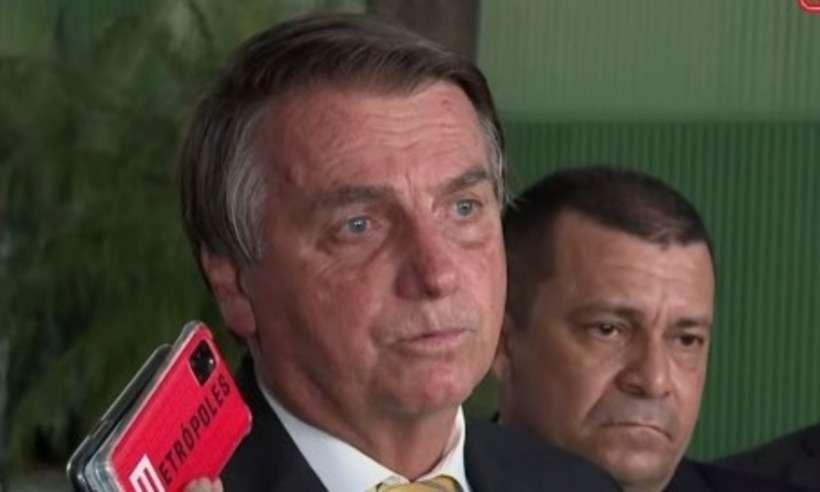 (Jair Bolsonaro falou com a imprensa logo após encontro com presidente do STF, Luiz Fux. Foto: Redes Sociais/Reprodução)