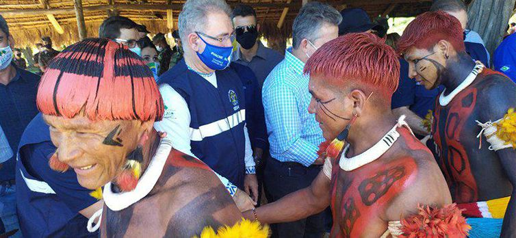 (Mutirão de saúde leva atendimentos para indígenas no Xingu (MT). Foto: Divulgação/Ministério da Saúde)