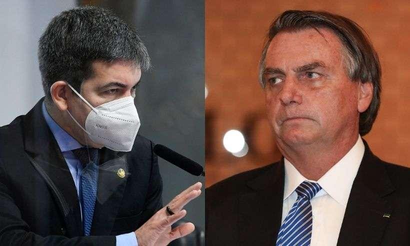 (Senador Randolfe Rodrigues (Rede-AP) rebate ataques do presidente Jair Bolsonaro (sem partido). Foto: Marcos Oliveira/Agência Senado/ Isac Nóbrega/PR)