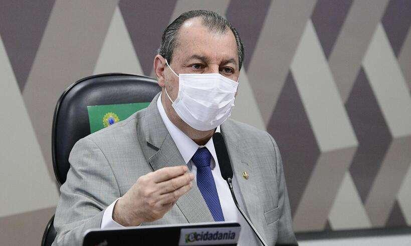(Presidente da Comissão Parlamentar de Inquérito (CPI) da Covid, senador Omar Aziz (PSD-AM). Foto: Agência Senado)