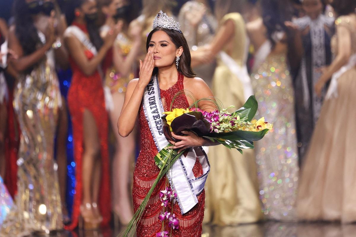 (A mexicana Andrea Meza eleita a Miss Universo 2021. Foto: Rodrigo Varela/GETTY IMAGES NORTH AMERICA/Getty Images via AFP)