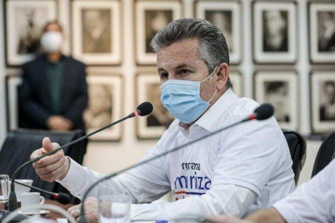 ('Não queremos debater Bolsonaro ou Lula, queremos debater os grandes problemas do país', diz Mauro Mendes. Foto: Tchélo Figueiredo - SECOM/MT)