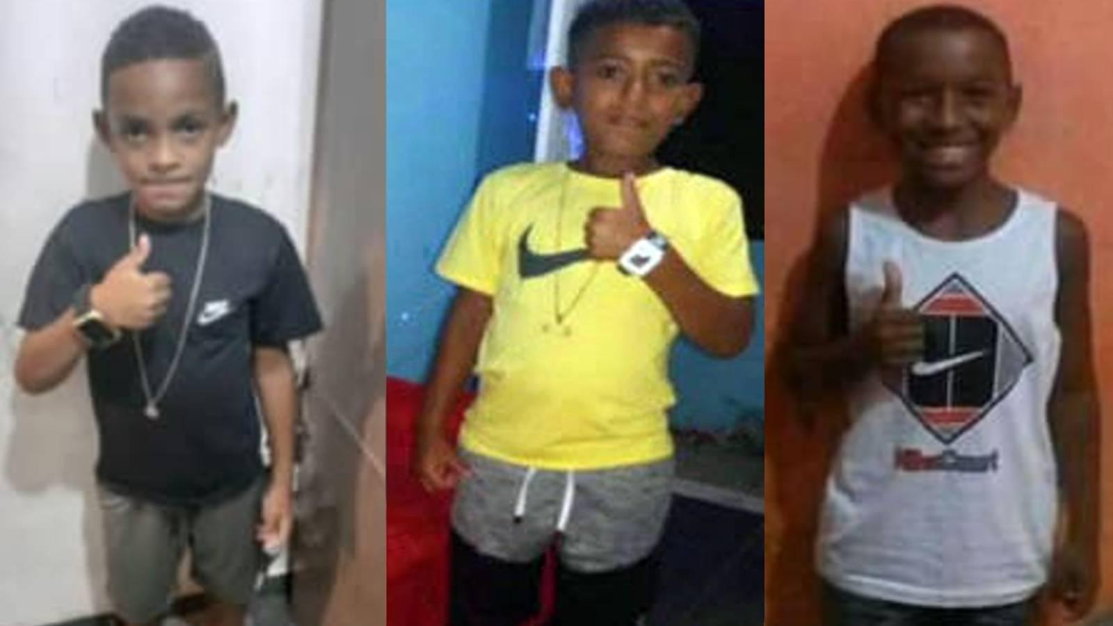 (Lucas, Alexandre e Fernando desapareceram no dia 27 de dezembro. Foto: Arquivo pessoal)