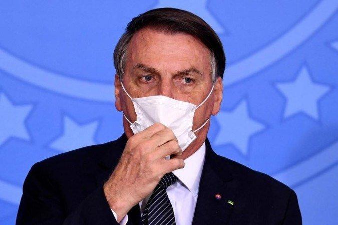 Ainda na entrevista, o presidente da República afirmou que só vai se vacinar contra a Covid-19 depois que o 'último brasileiro' estiver imune (Evaristo Sá/AFP)
