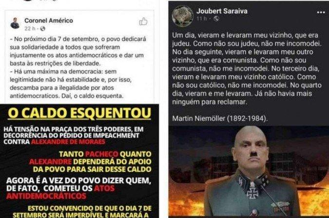 Coronel Aleksander Lacerda faz ameaças ao STF nas redes sociais (Foto: Reprodução/Redes Sociais)