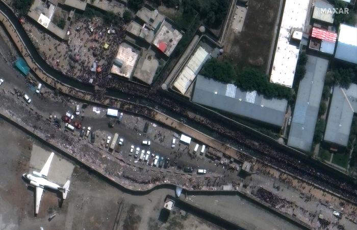 (Foto: Handout / Satellite image ©2021 Maxar Technologies / AFP)