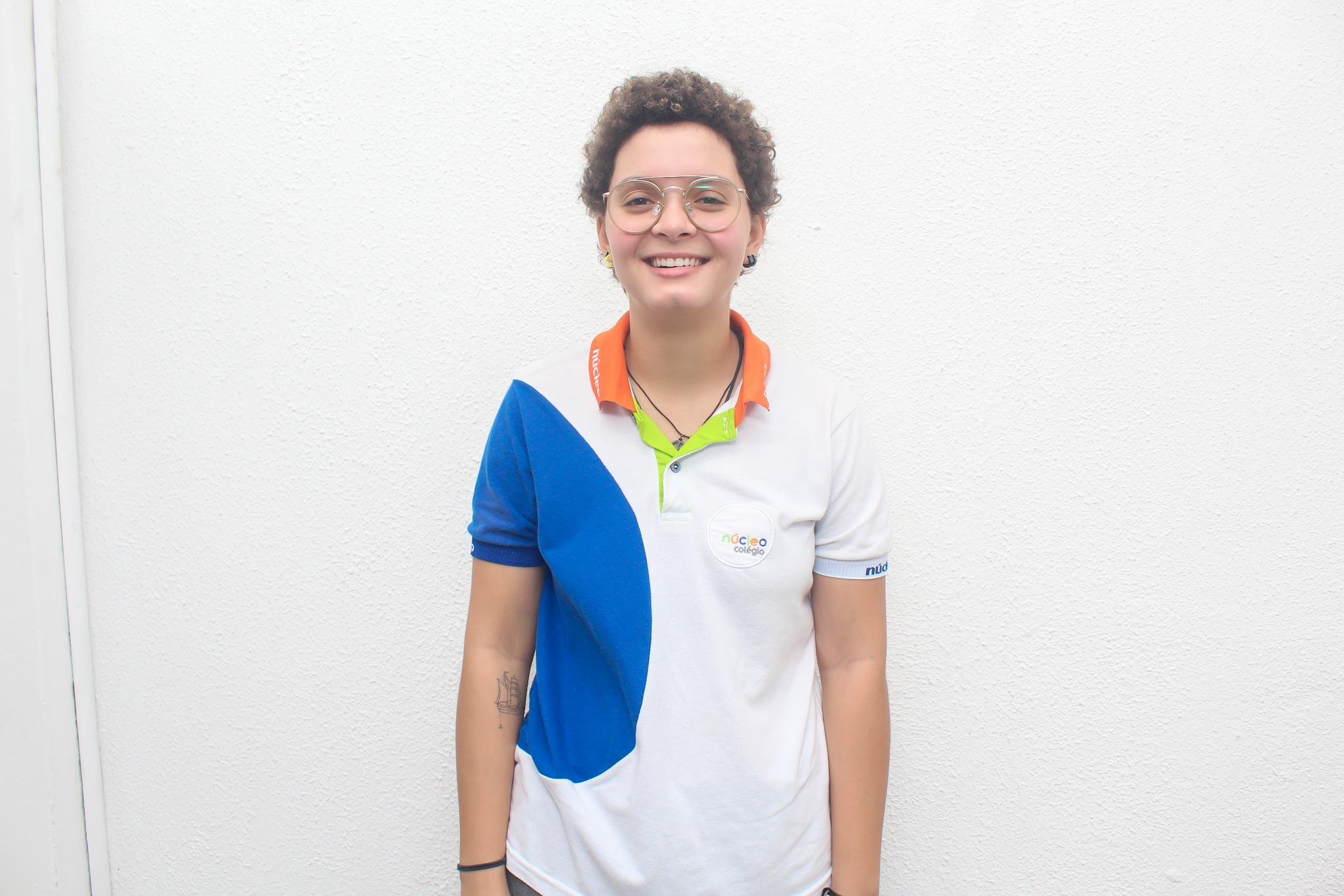 (A estudante Elise Albuquerque, 18, fez parte do Clube de Simulação ONU e foi uma das delegadas do estado de Pernambuco na fase nacional da competição. Foto: Núcleo/Divulgação)