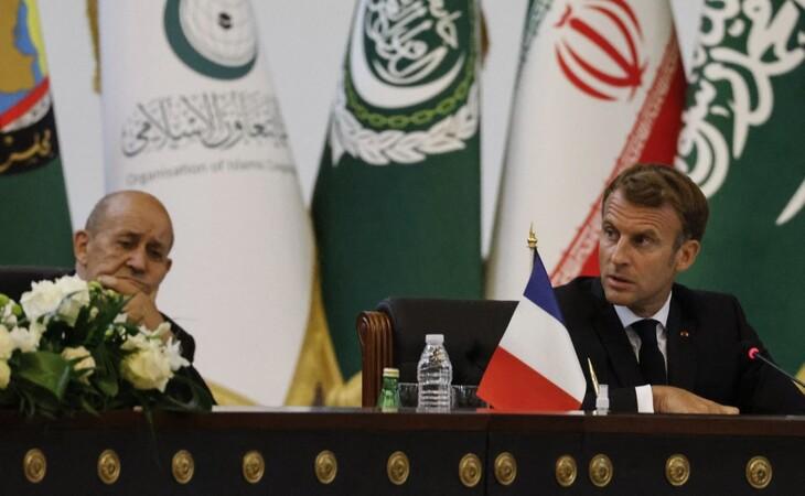 O encontro debate apaziguamento entre Irã e Arábia Saudita, assim como recentes acontecimentos no Afeganistão (Foto: Ludovic Marin/POOL/AFP)