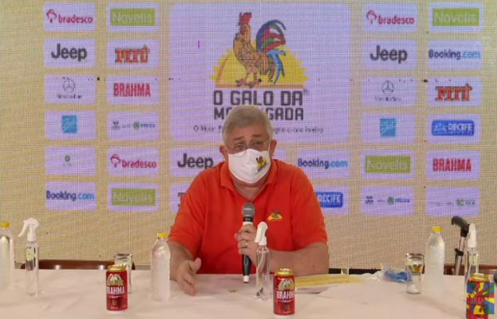 Presidente do Galo da Madrugada, Rômulo Menezes. (Foto: Reprodução/ YouTube)