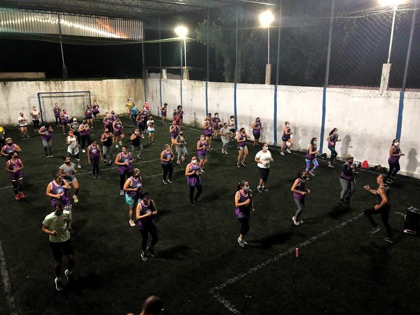 Projeto Saúde na Comunidade leva à população o direito a prática de saúde com aulas de ginástica, funcional e dança, de forma totalmente gratuita. (Fabson Gabriel/DP)