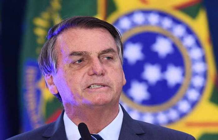 Bolsonaro criticou proibição da presença de policiais militares da ativa de São Paulo para comparecerem ao ato na Av. Paulista (Foto: Evaristo Sá/AFP)
