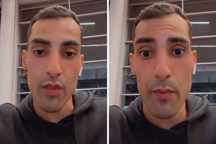 (O jogador de vôlei estava indo para Itália, país em que começará a jogar, e relatou a situação através do Instagram. Foto: Reprodução/Instagram)