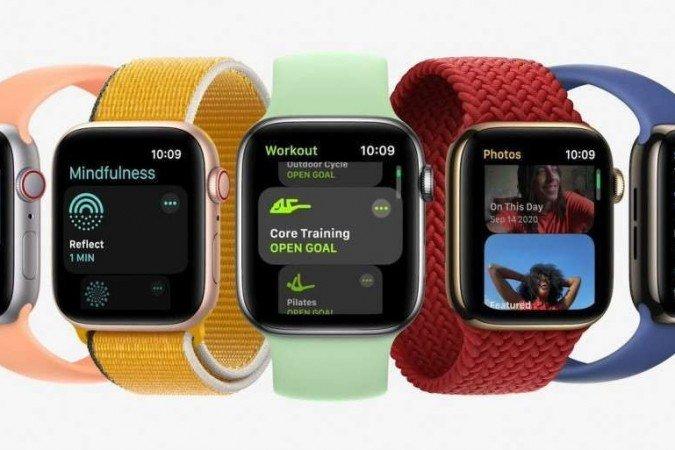 (Relógios têm bateria otimizada e prometem que 8 minutos de carga são suficientes para um uso de 8 horas. Foto: Apple/Reprodução)