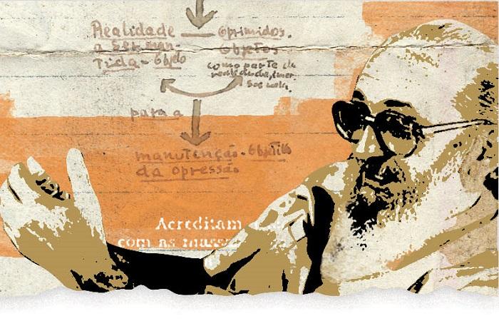 A educadora e pesquisadora freiriana Targélia de Souza explica os entraves que deixa Paulo Freire fora das escolas brasileiras (ARTE: Silvino/DP)