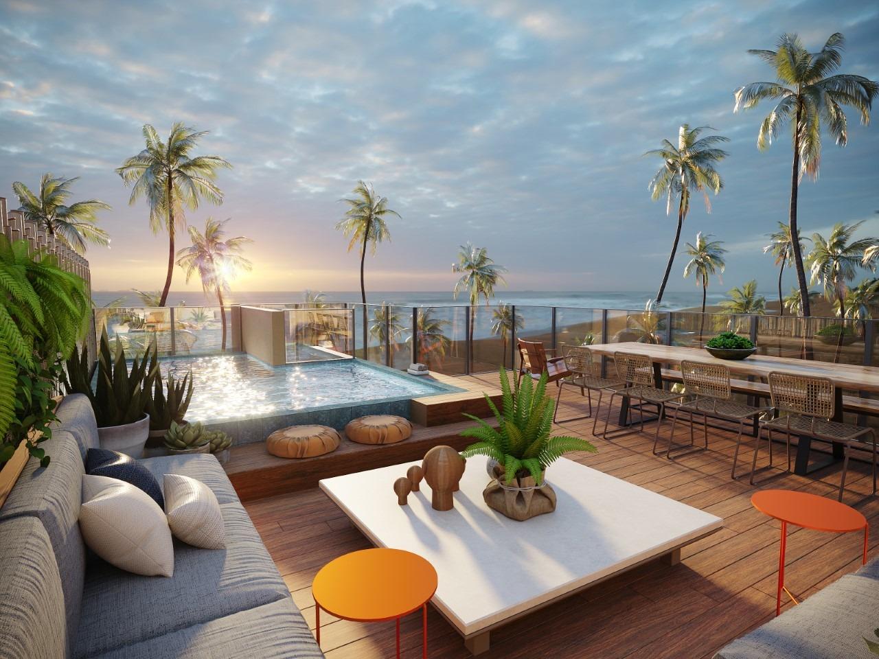 Rooftop dos condomínios Tropí e Naturê, que serão construídos na praia de Muro Alto
