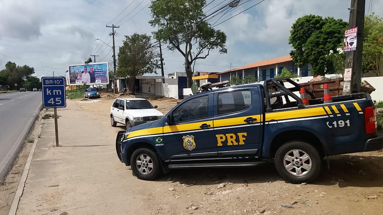 Motorista portador de Alzheimer saiu de Patos, na Paraíba, até a Região Metropolitana do Recife (PRF/Divulgação)
