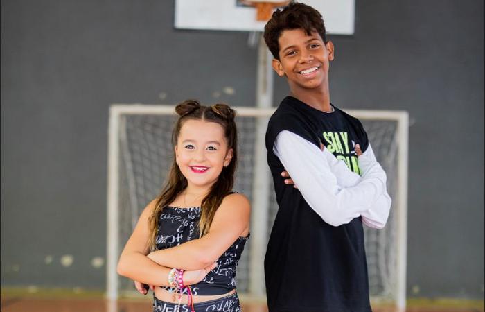 Marcela Jardim, 9, e MC Bruninho, 13 (Foto: Divulgação)