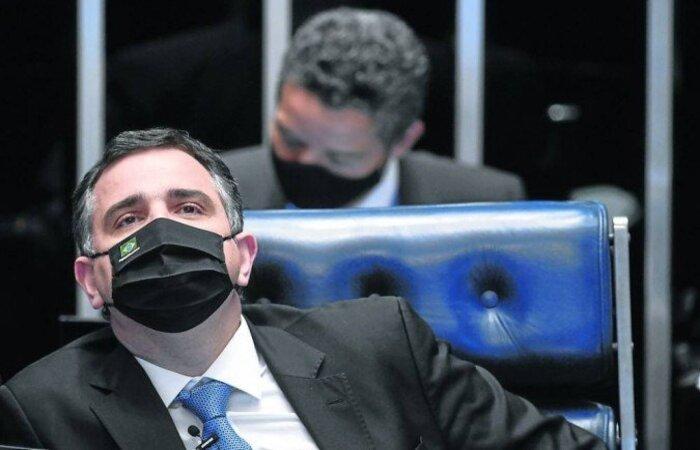 """Pacheco voltou a dizer que """"tem compromisso"""" com a votação da reforma do IR, mas explicou que não pode garantir que o texto será mantido da forma como foi enviado pela Câmara dos Deputados (Leopoldo Silva/Agencia Senado)"""