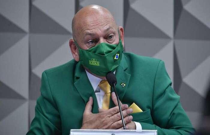 Empresário bolsonarista agradou alguns apoiadores do presidente após irritar os senadores da comissão (Leopoldo Silva/Agência Senado)