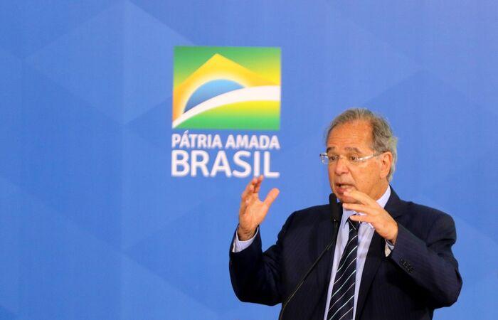 Paulo Guedes falou durante abertura da 1ª Semana Orçamentária do TCU (Wilson Dias/Agência Brasil)