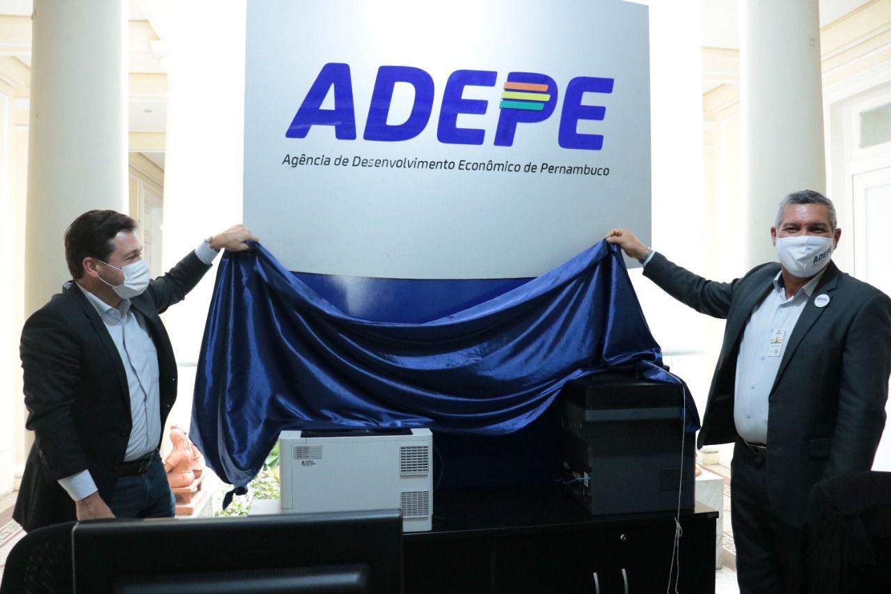 O evento de reposicionamento contou com a  presença do secretário estadual de Desenvolvimento Econômico, Geraldo Júlio, e do presidente da Adepe, Roberto Abreu e Lima. (Foto: Antônio Holanda/Adepe)