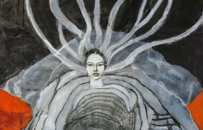 A exposição reúne 55 obras de diferentes períodos da pintora paraibana (Foto: Alice Vinagre)