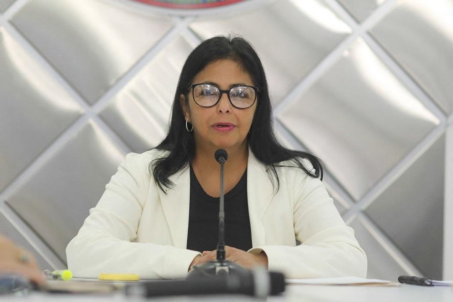 Vice-presidente da Venezuela, Delcy Rodriguez (Foto: Venezuelan Presidency / AFP)