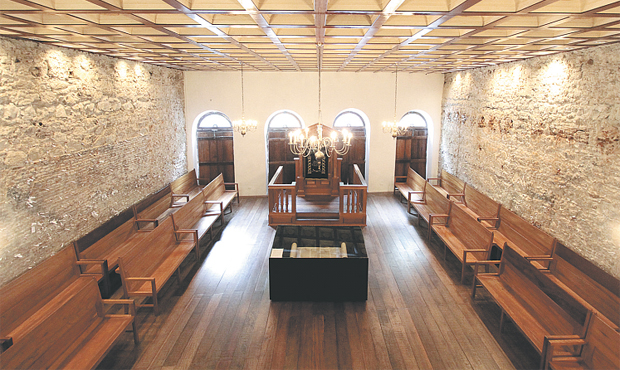 A Sinagoga Kahal Zur Israel, na Rua do Bom Jesus, é a mais antiga das Américas (ALCIONE FERREIRA/DP/D.A PRESS)